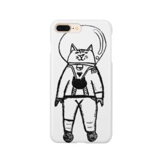 宇宙ねこくん 背景無しばーじょん Smartphone cases