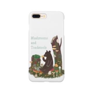 Cafe de Foretのきのことクマ Smartphone cases