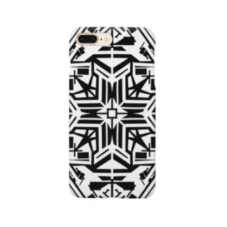 リーフ(モノクロ) Smartphone cases