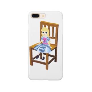フランス人形が座ってる Smartphone cases