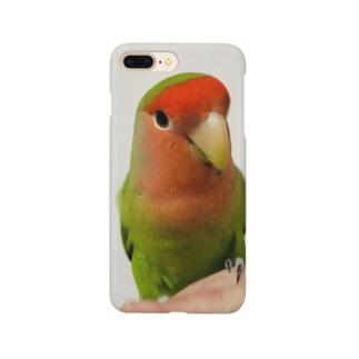 コザクラインコちまちゃんのスマホケース Smartphone cases