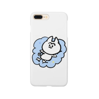 雲の上のまゆげねこ Smartphone cases