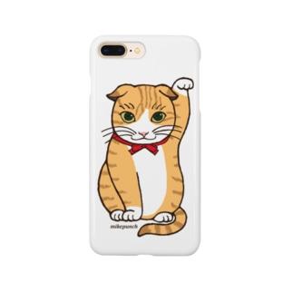まねき猫ドットちゃん Smartphone cases