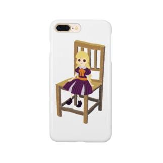 フランス人形が座ってる(ハロウィンver.) Smartphone cases