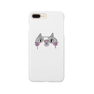 にゃんだかなネコ携帯ケース Smartphone cases