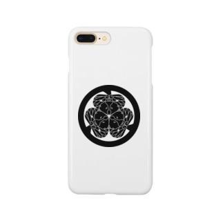 動物家紋。H.T.(三つ葉葵ハシビロコウ) Smartphone cases