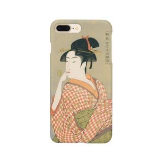 ビードロを吹く娘 utamaro Smartphone cases