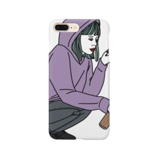 チルい女の子 Smartphone cases
