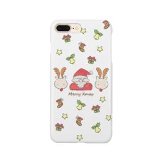 ふんわりクリスマス Smartphone cases