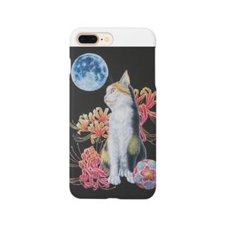猫と曼珠沙華 Smartphone cases