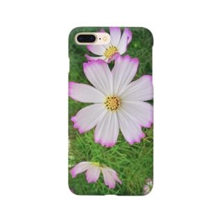 秋桜 縁取り Smartphone cases