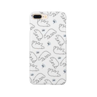 たくさんシロクマ Smartphone cases