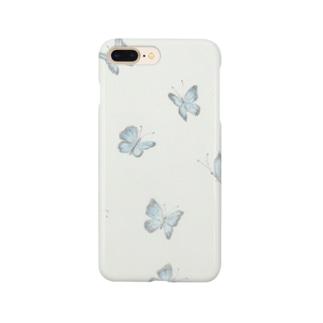sky flower 青い蝶々 Smartphone cases