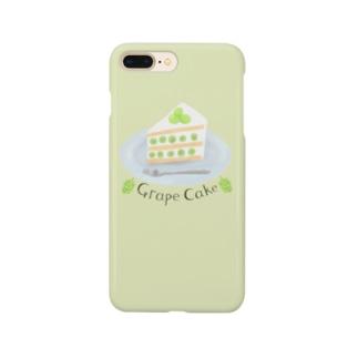 ぶどうケーキ(緑)を食べよう Smartphone cases