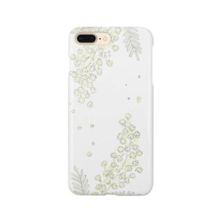 ミモザのスマホケース Smartphone cases