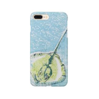 えいの版画 Smartphone cases