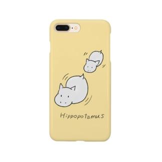 よぴ屋のカバの親子 Smartphone cases