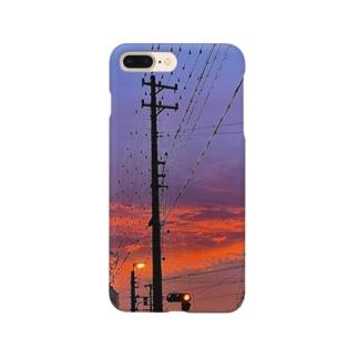 赤信号と夕焼け Smartphone cases