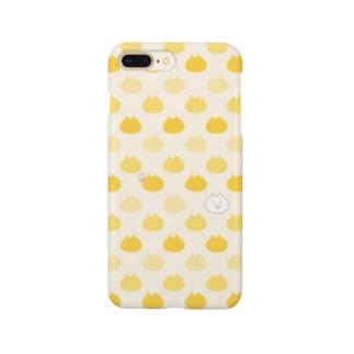 【yellow】 くまこがいっぱい Smartphone cases