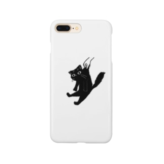 くろねこキャッチ Smartphone cases