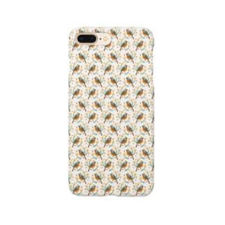 ジョウビタキのスマホケース Smartphone cases