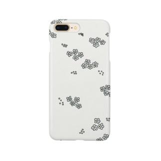 忘れな草のスマホケース Smartphone cases