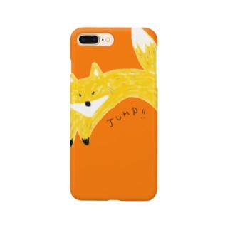 キツネのジャンプ Smartphone cases