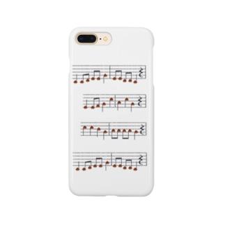 TinyMiry(タイニーミリー)の栗の楽譜 Smartphone cases