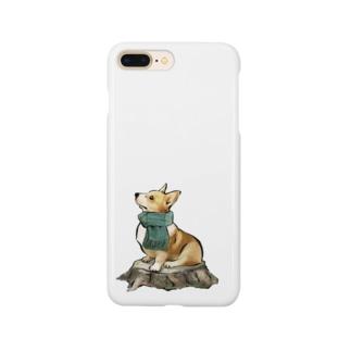 マフラー犬 コーギー Smartphone cases