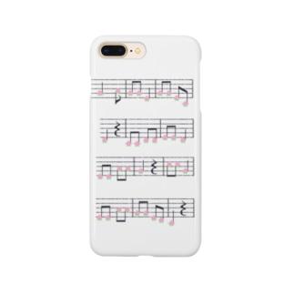 桃の楽譜 Smartphone cases