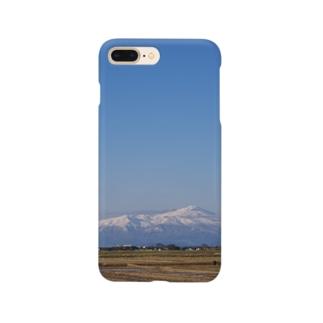 鳥海山と空 Smartphone cases