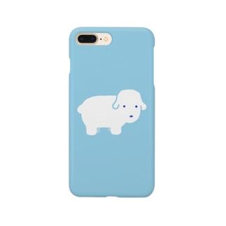 白いフワフワの犬 Smartphone cases