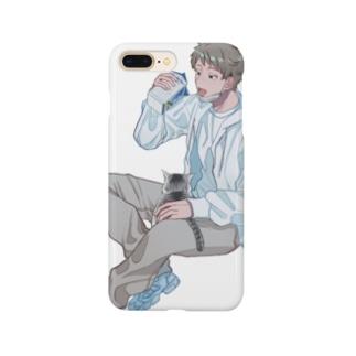 白パーカー Smartphone cases