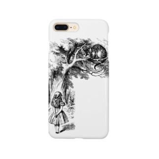 チェシャ猫とアリス Smartphone cases