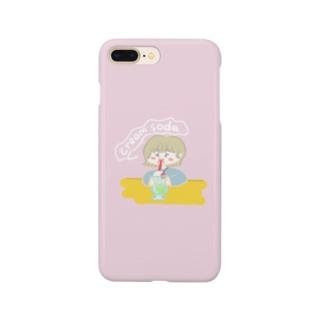 クリームソーダ飲み子ちゃん🍨 Smartphone cases