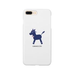 umakichi ロゴ_フレームレス Smartphone cases