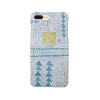 月と森のスマホケース Smartphone cases