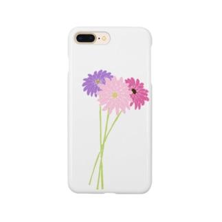 三色のガーベラ Smartphone cases
