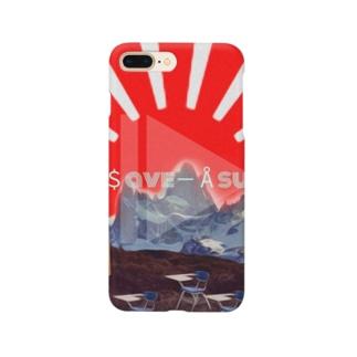 太陽とパタゴニアの山 Smartphone cases