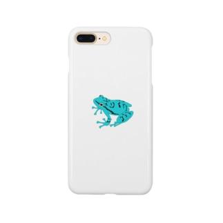 カエル(青) Smartphone cases