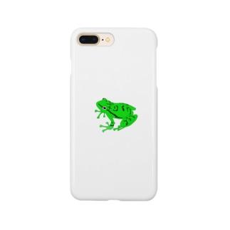 カエル(緑) Smartphone cases