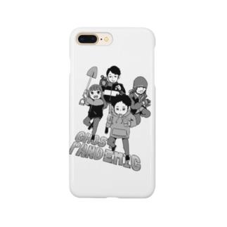 アムモ98ホラーチャンネルショップの心霊~パンデミック~イラスト モノクロVer Smartphone cases