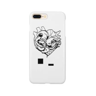 mine 心臓くん Smartphone cases