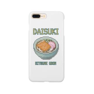 キツネウドン(ドット絵) Smartphone cases