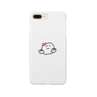 女将の落書き Smartphone cases