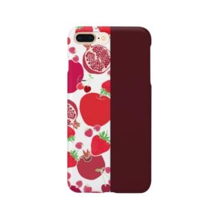 レッドのフルーツ Smartphone cases