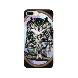 森の使者ミミズク Smartphone cases
