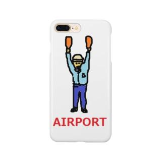 エアライン エアポート マーシャラー 空港 飛行機 Smartphone cases