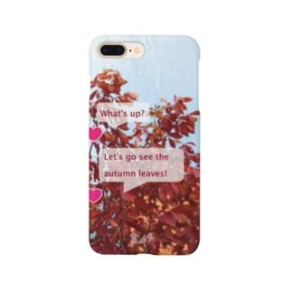 紅葉を見に行こうよう。 Smartphone cases