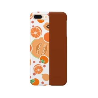 オレンジのフルーツ Smartphone cases